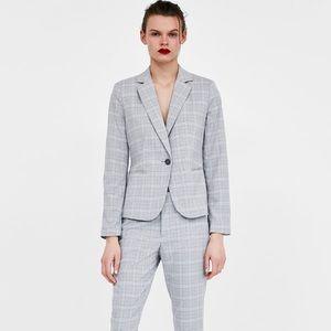 NWT Zara Checkered Blazer